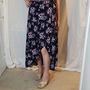 Forever 21 Floral Wrap Skirt